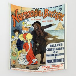 1896 Normandy Brittany Jersey travel ad Wall Tapestry