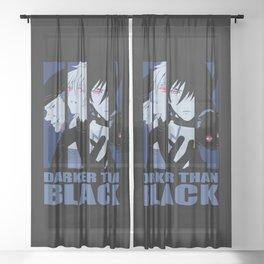 Darker Than Black Huang Hei Yin And Mao Sheer Curtain