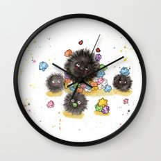 Hungry Soot Sprites  Wall Clock