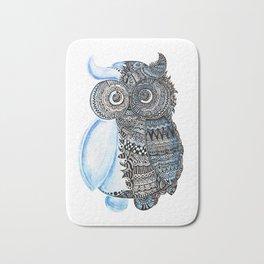 watercolor owl Bath Mat