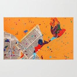 Letter Trail by Nadia J Art Rug
