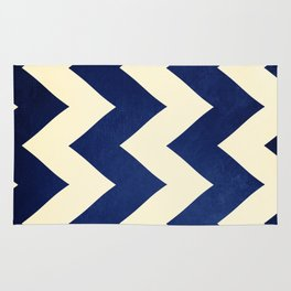 Fleet Week - Navy Chevron Rug