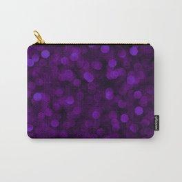 Purple Ultra Violet Glitter Bokeh Glam Pattern Carry-All Pouch