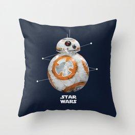 Low Poly BB-8 Throw Pillow