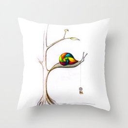 Treesnail Throw Pillow