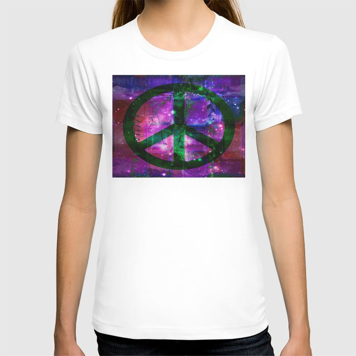 Peace symbol and infused colors T-shirt