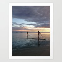 On the Water Art Print