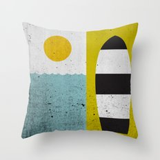 Sun & Board Throw Pillow