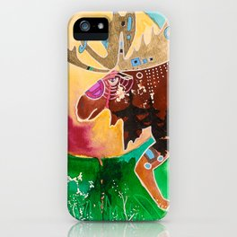 Fantastic Moose - Animal - by LiliFlore iPhone Case