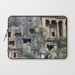 Rock Tombs Photograph Fethiye Laptop Sleeve
