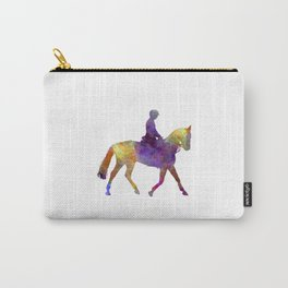 Horse show 04 in watercolor Carry-All Pouch