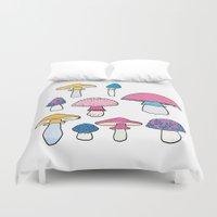 mushroom Duvet Covers featuring Mushroom by Elyse Beisser