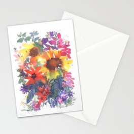 Rainy Day Sunflowers Stationery Cards