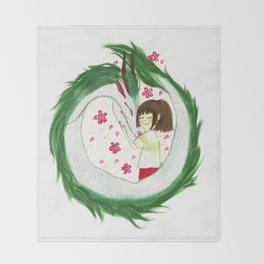 Watercolor Spirited Away - The Love Gathering Throw Blanket