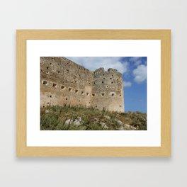 Mediterranean Fort Castle Framed Art Print