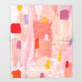 Put Sorrows In A Jar - abstract modern art minimal painting nursery Throw Blanket