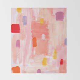 Put Sorrows In A Jar - abstract modern art minimal painting nursery Throw Blanket
