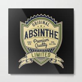 Absinthe - Green Fairy - 05 - dark Metal Print