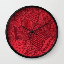 Red Zen Wall Clock