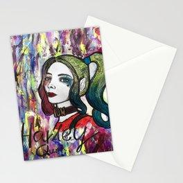 Nail Polish Paintng Of Harley Quinn Stationery Cards