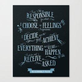 The Responsibility Prayer Canvas Print