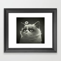 No! Framed Art Print