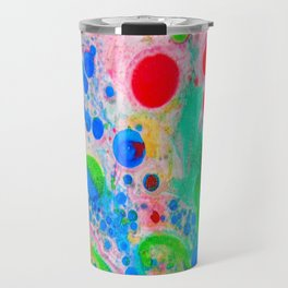 Marbling 4, Tie Dye Effect Abstract Pattern Travel Mug