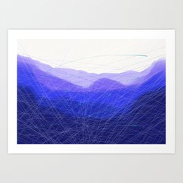 Blue Remembered Hills Art Print