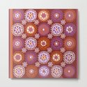 Flower Doodles Russet/Orange, circles and flower pattern by janicemacdougall