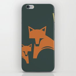 Foxes in the Harvest iPhone Skin