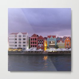 Curacao: Willemstad in purple Dusk Metal Print