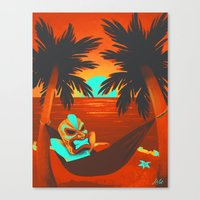 tiki Canvas Prints featuring Tiki  by Shana Patry