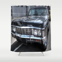 supernatural Shower Curtains featuring Impala - Supernatural by VHS Photography
