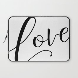 Love in black and white Laptop Sleeve