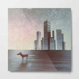 LEAVING CITY Metal Print