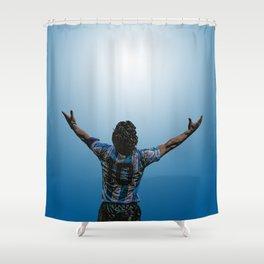 Maradona victorioso Shower Curtain