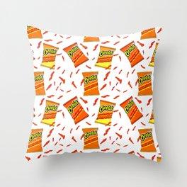 Flamin' Hot Cheetos illustration Throw Pillow