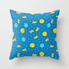 Happy Sky -  sleepy Sun Throw Pillow