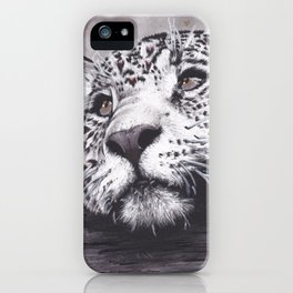 Leopard with Hearts iPhone Case
