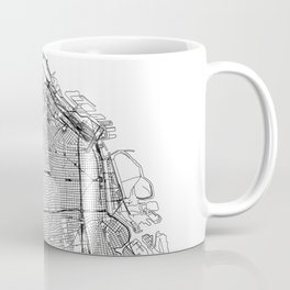 Buenos Aires White Map Coffee Mug