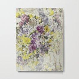 Soft Vintage Floral  Metal Print