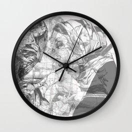 SOLVE ET COAGULA. New Composition. Ladies. Damascus. Triptych. Part 3. Illustration. INK ART. Yury F Wall Clock