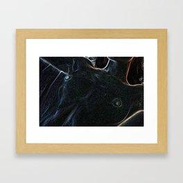 Neon nude woman Framed Art Print