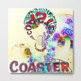 Psychedelic Coaster Metal Print