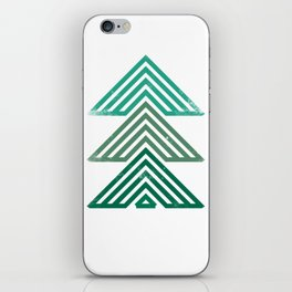 Mountain trees vintage iPhone Skin