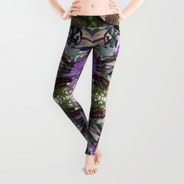Psychedelic Positive Notes Lavender Zoom Leggings