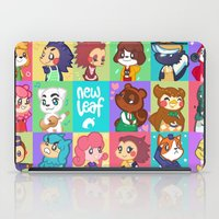 animal crossing iPad Cases featuring Animal Crossing New Leaf by honey tiger