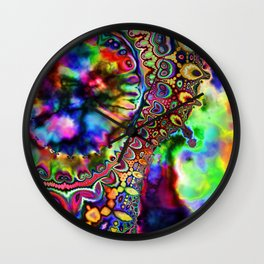 Ride The Rainbow Wall Clock