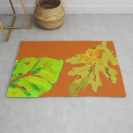 Leaves de la Autumn painting with digital frolicksomeness Rug