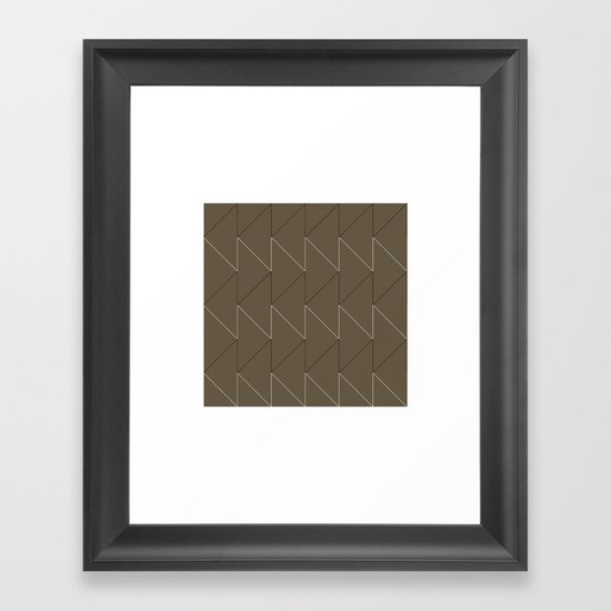 #168 Sawtooth – Geometry Daily Framed Art Print